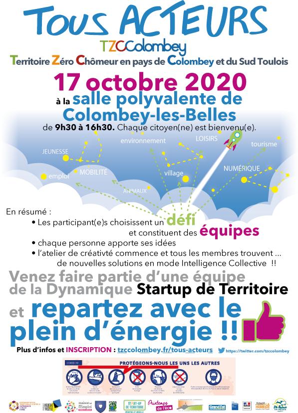 Affiche Rencontre Tous Acteurs le 17 octobre 2020